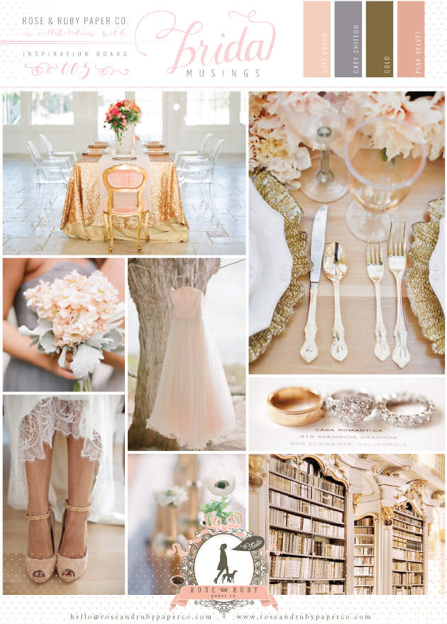 Romance Whimsy Copper Rose Antique Gold Mauve Peach Blush Ivory