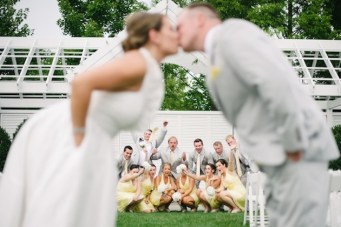 Chic Yellow & Grey Beach Club Wedding