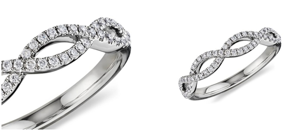 Infinity wedding ring by Blue Nile
