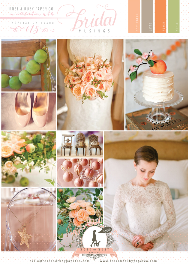 Rose-&-Ruby-Wedding-Inspiration-Board-15-Ivory-Lace-Peaches-Apples-Gold