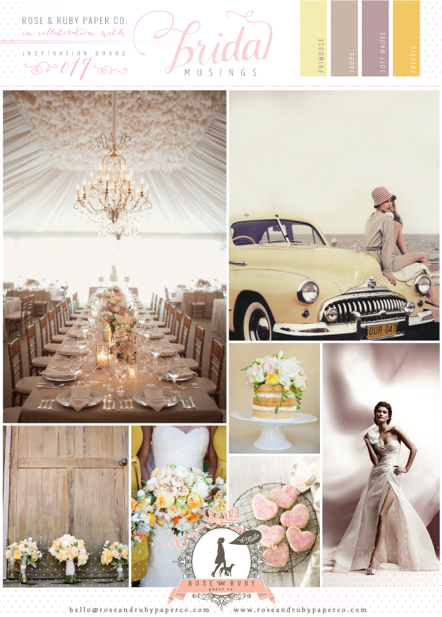 yellow and mauve wedding inspiration