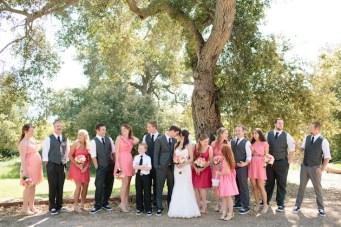 Pink & Coral Rustic Ranch Wedding
