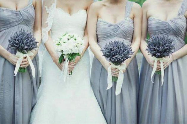 lavender bouquets for bridesmaids