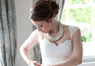 Classically Beautiful Blue & Ivory English Wedding
