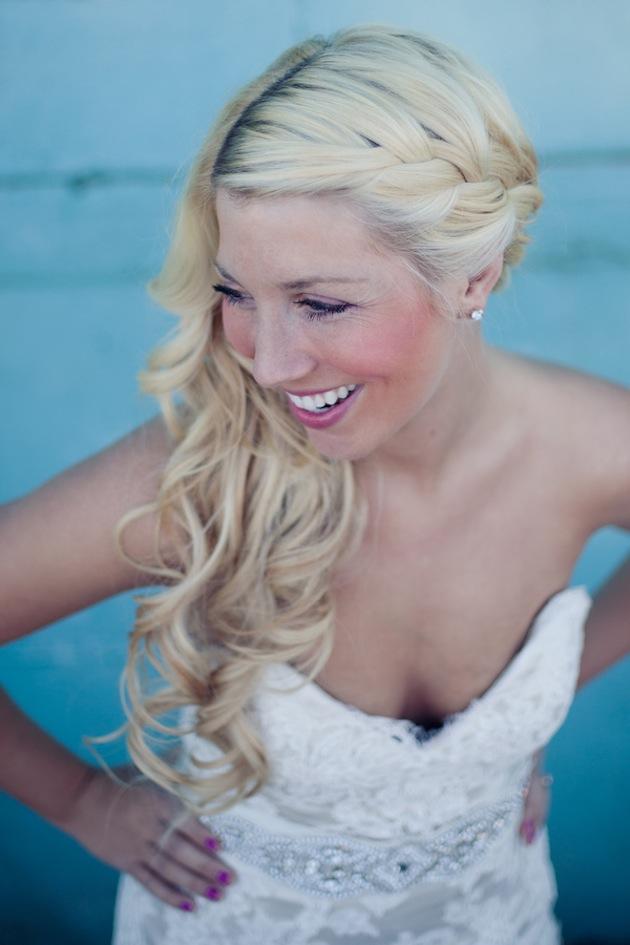 single twist hairstyle : Wedding Hairstyles Side Swept Braid Farmers market wedding