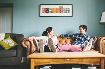 Sweet & Cosy Engagement Shoot At Home