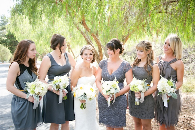 Yellow And Grey Wedding Filled With Pin Wheels Bridal