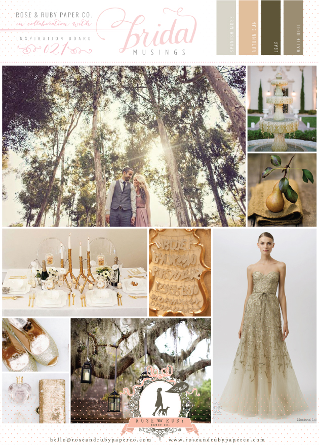 rustic luxe golden forest wedding inspiration