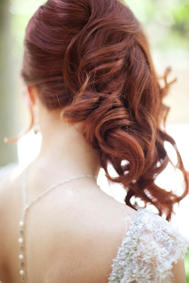 Side Swept Waves Curls Wedding Hairstyle 1 - Bridal Musings Wedding Blog