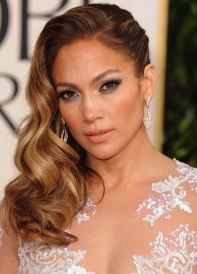 Side Swept Waves Curls Wedding Hairstyle 9