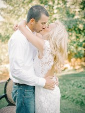 Sweet Summer Engagement Shoot: Kisses & Cowboy Boots