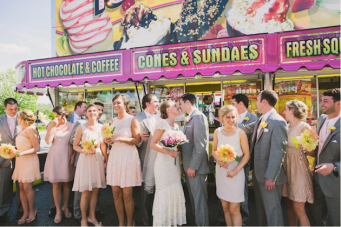 Colourful Handmade Backyard Wedding + A Trip To The Carnival!