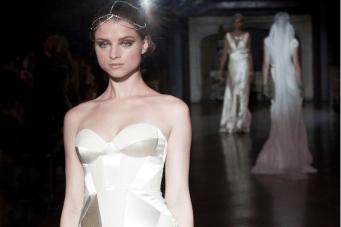 Johanna Johnson Muse Collection S/S 2014: Art Deco Inspired Silk Wedding Dresses