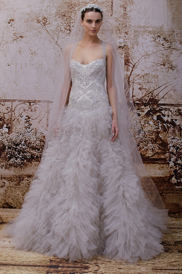 Stunning Monique Lhuillier Wedding Dress Collection FW 2014