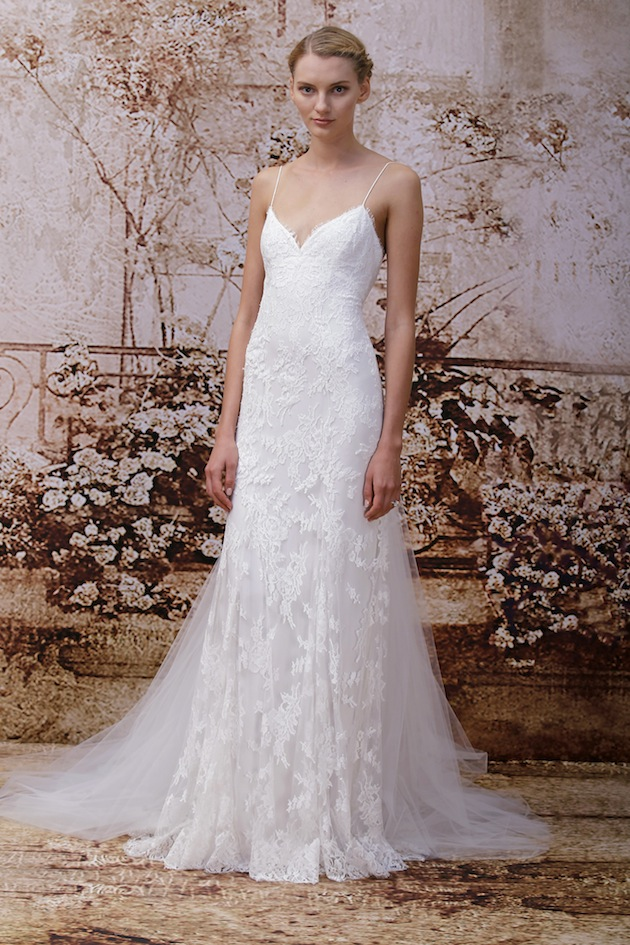stunning monique lhuillier wedding dress collection fw
