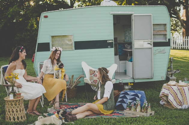 Retro Camper Glamping Bachelorette Party | Zipporah Photography 27