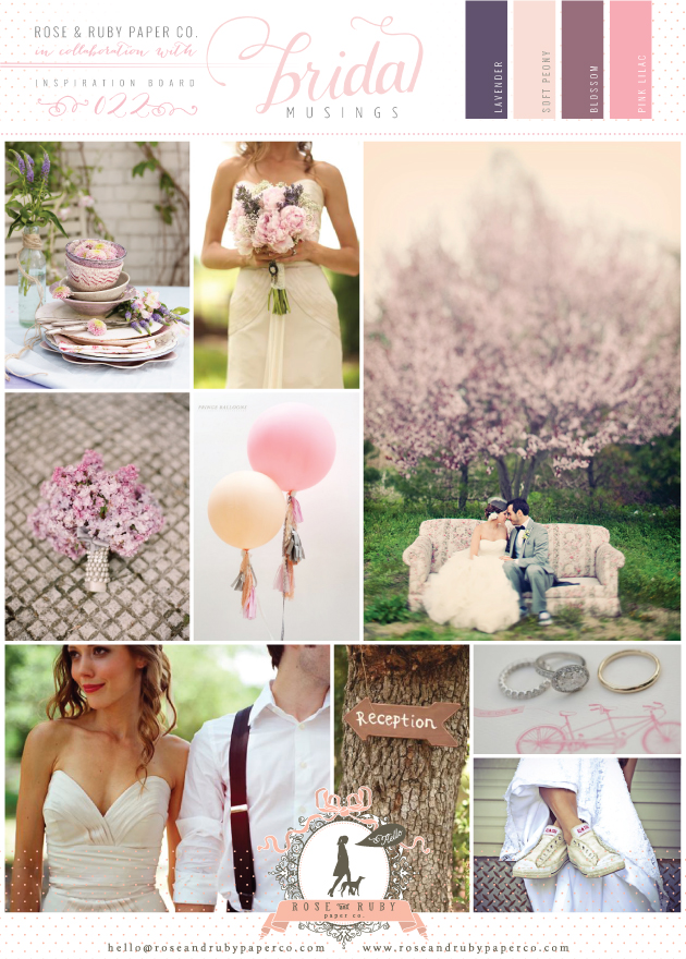 lilac wedding inspiration board | Rose and Ruby Paper Co.