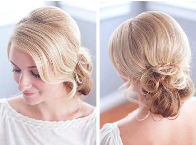 Messy Chignon Tutorial Bridal Musings Wedding Blog