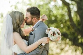Intimate Navy and Peach DIY Wedding