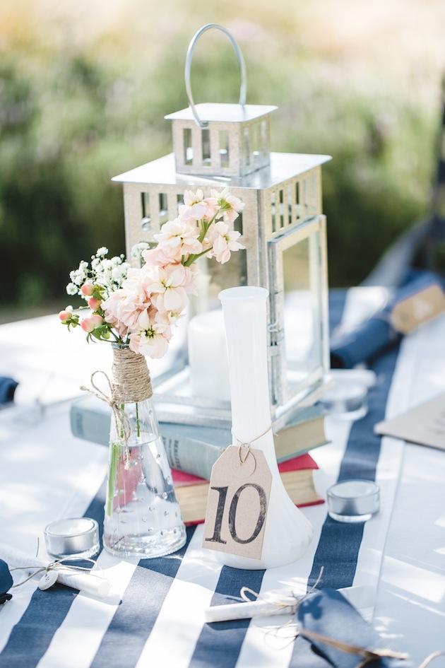 Navy And Peach Diy Wedding From Anita Martin Photography