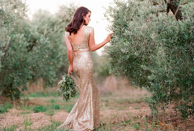Gold Wedding Dress by Zhavit Tshuba | Gert Huygaerts Photography (1)