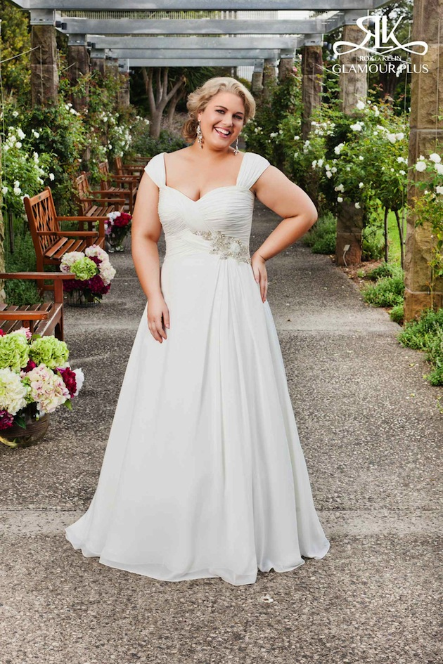 glamour plus size wedding dress roz la kelin bridal 5545t