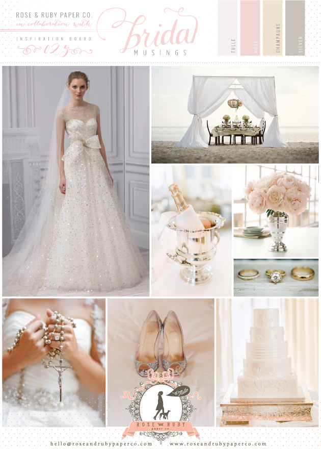 gold, silver, blush pink and champagne wedding inspiration