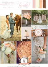 Glamorous Peach Wedding Inspiration Board