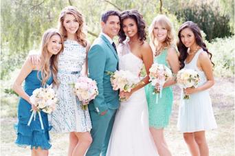 Dreamy Blue & Green Spring Wedding Inspiration Shoot