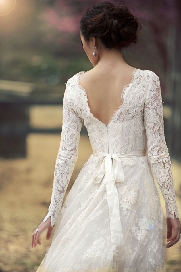 Pictures of lace wedding gowns : Gorgeous lace sleeve wedding dresses