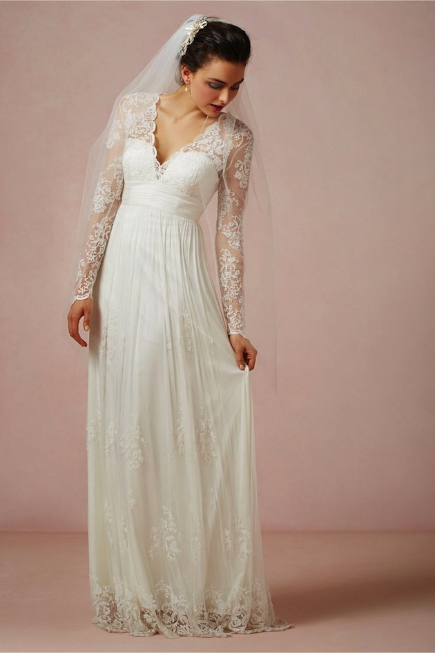 Wedding Dress With Lace Sleeves : Wedding dresses with lace sleeves gorgeous sleeve