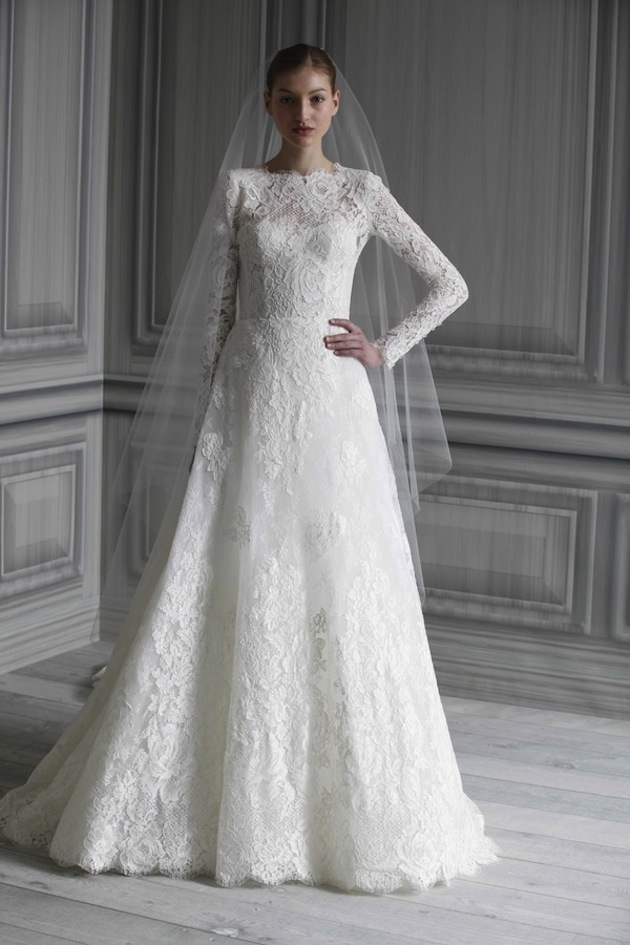 Bridal Lace Wedding Dresses With Long Sleeves 22