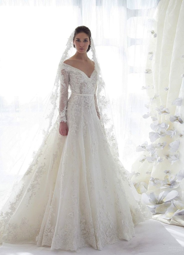 lace sleeved wedding dresses 30 gorgeous lace sleeve wedding dresses 5371