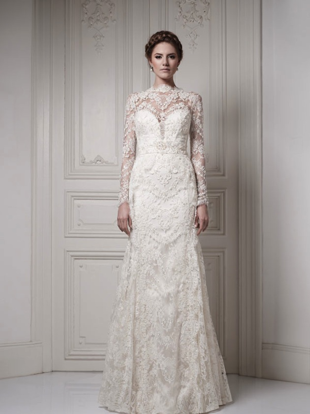 30 gorgeous lace sleeve wedding dresses ForLong Sleeve Lace Wedding Dresses