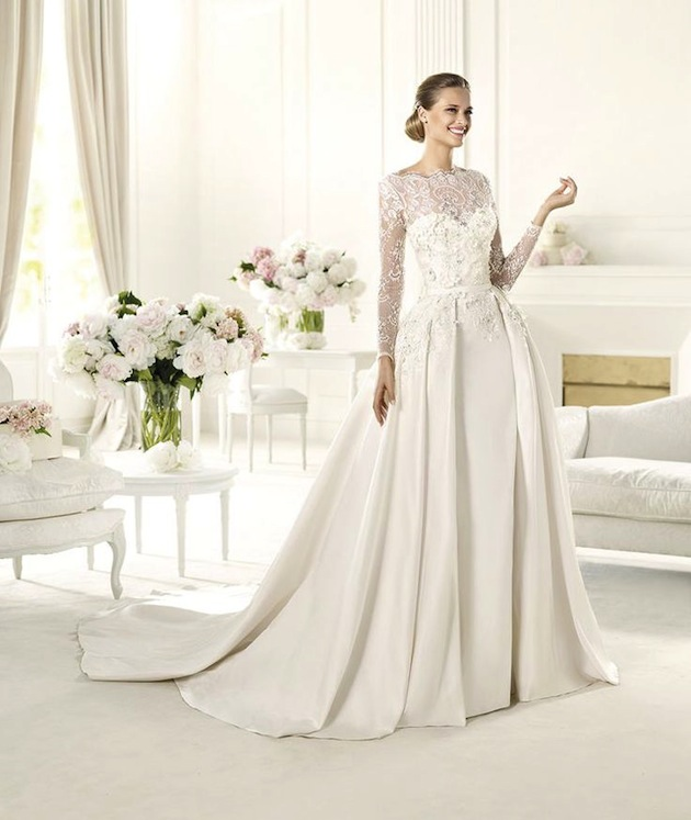 wedding dress w sleeves