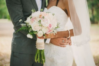 Blush Pink, Mint & Burlap Rustic DIY Wedding