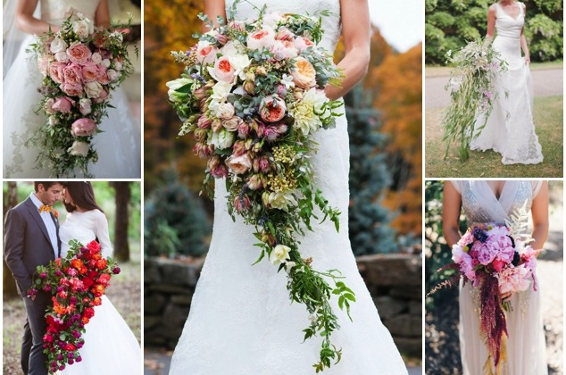 20 Stunning Cascading Bouquets Amp Expert Tips From Florists