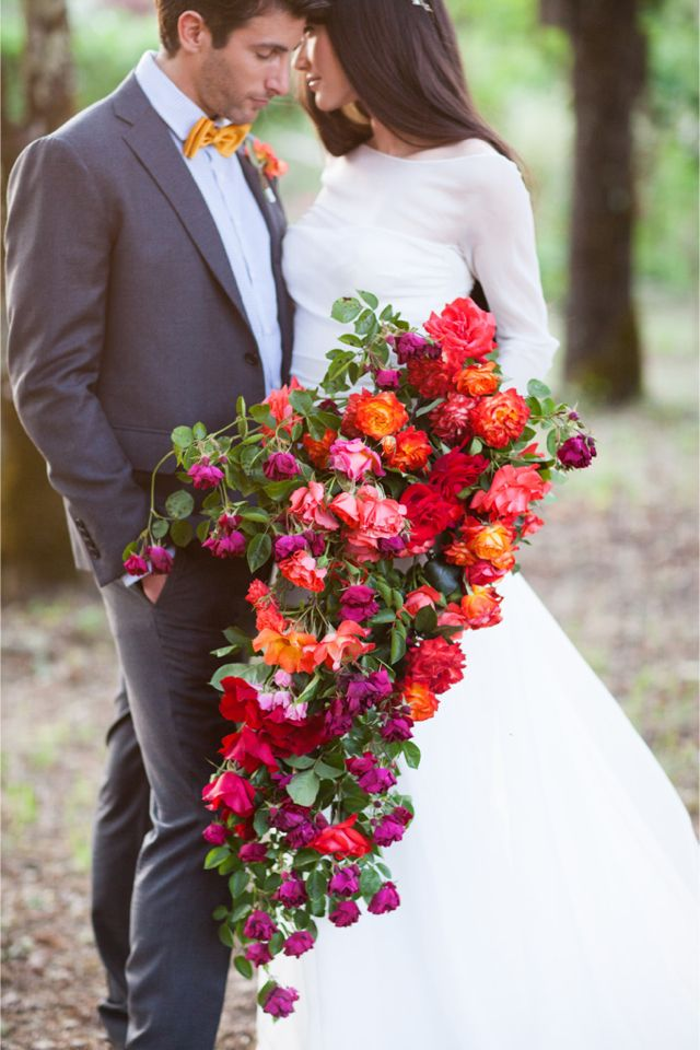 Dramatic Cascading Bouquet Bridal Musings