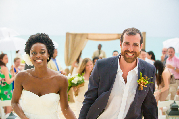 Beautiful Beach Wedding in The Turks and Caicos by Craig BruceJulie281BW