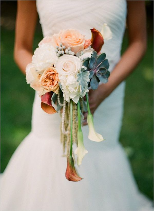 Lily cascading bouquet bridal musings