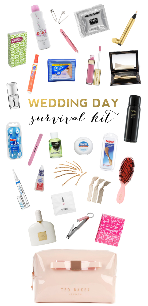 Wedding Day Makeup Essentials : Items Every Bride Needs in Her Wedding Day Survival Kit ...