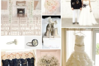 Pretty and Preppy: Pink and Navy Wedding Inspiration Board
