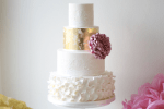 Metallic cake trends by Ivory & Rose