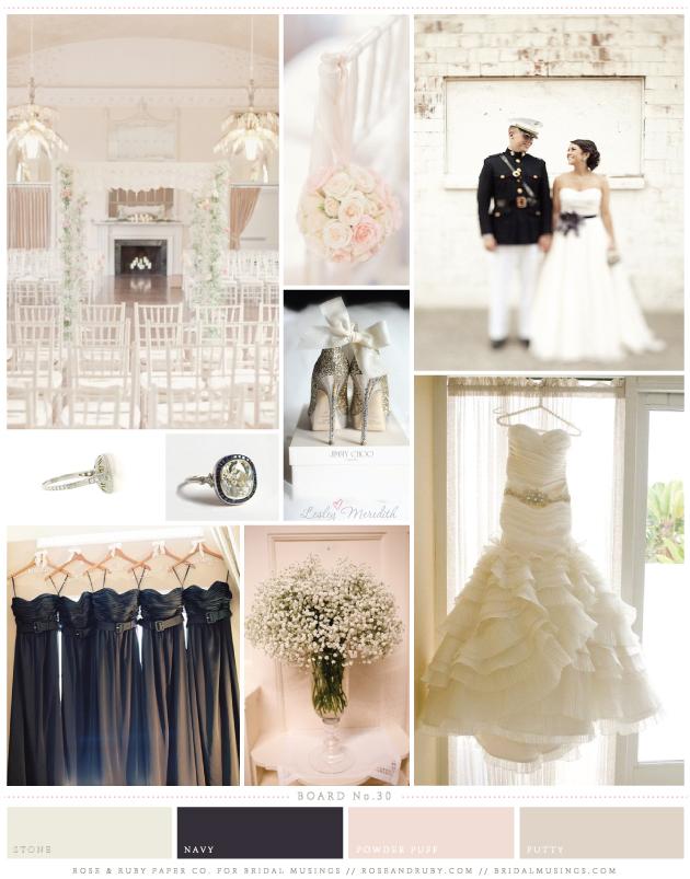 Pretty And Preppy Pink And Navy Wedding Inspiration Board Crazyforus