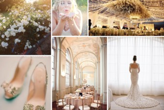 Something Old and Something New: Gold and Mint Inspiration Board