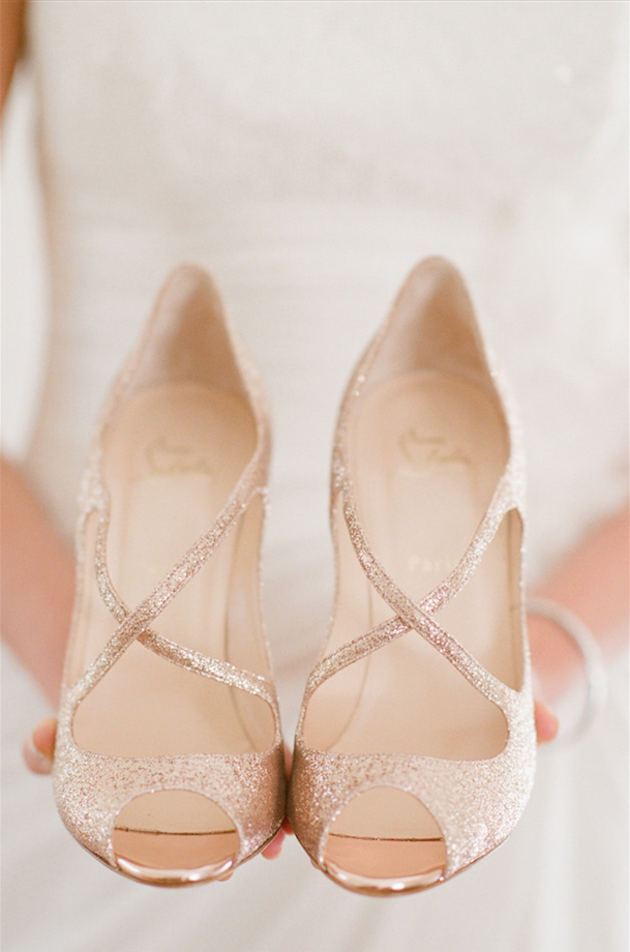Gold Louboutins | Bridal Musings Wedding Blog