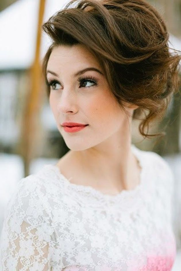 Very Simple Wedding Makeup : 30 Ways To Style Short Hair for Your Wedding Bridal Musings