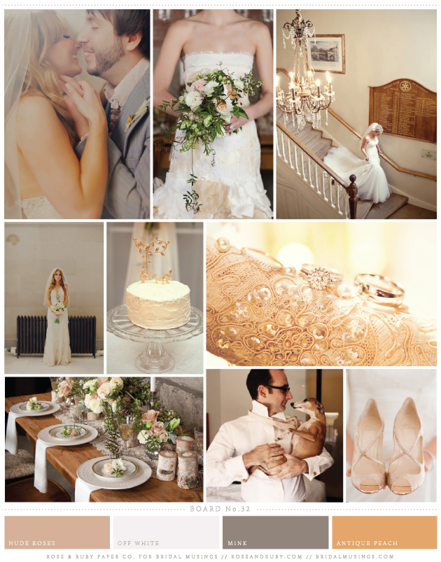 Ivory and Rose Golden Haze Wedding Inspiration | Bridal Musings Wedding Blog