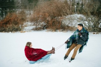 Super Cute Winter Engagement Shoot in the Snow