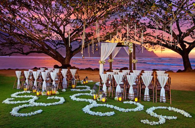 Night Beach Wedding Reception Elegant Caribbean Island: Destination Wedding Inspiration From Starwood Resorts